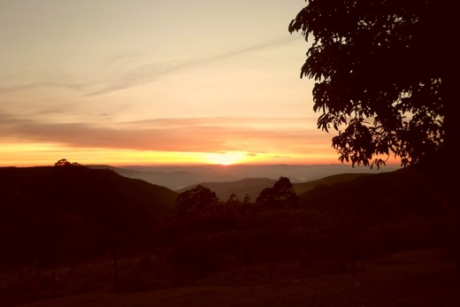 Sunrise over the Drakensberge, KZN, South Africa