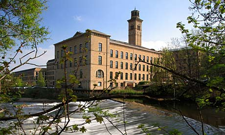 The Salt Mill at Saltaire near Bradford, established by Titus Salt in the 19th Century - a model town, one of the not-so-dark Satanic mills of Victorian times
