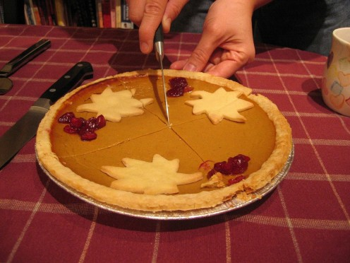 Make pumpkin pie and show off your piecrust making skills.