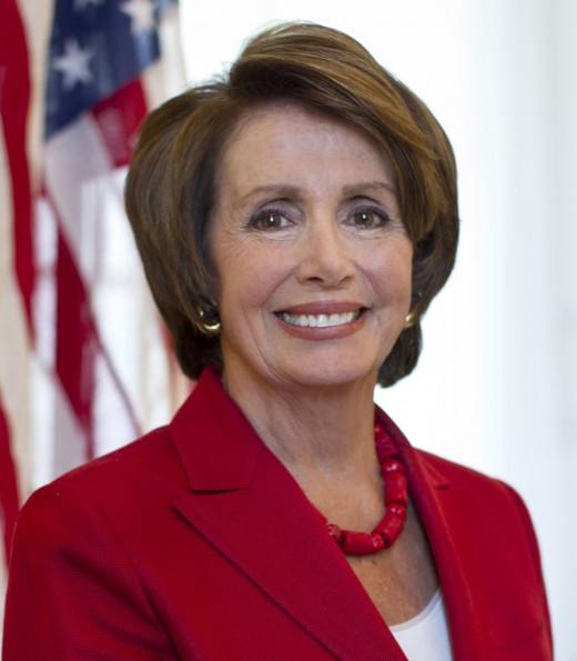 Nancy Pilosi, House Minority Leader shook her head at Trump's mention of Obamacare