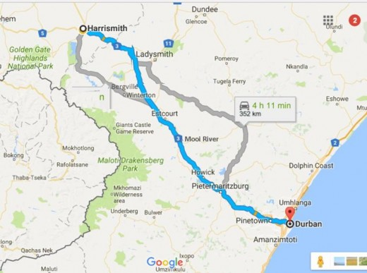 From Harrismith to Durban