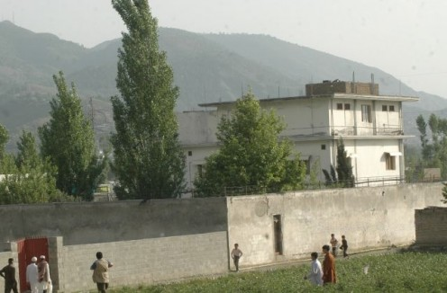 Bin Laden's house in Abbottabad Pakistan.
