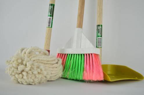 Brooms and Dustpans are Basic Cleaning Tools