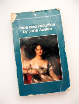 A well-loved, well-used copy of Jane Austen's work from my childhood library.