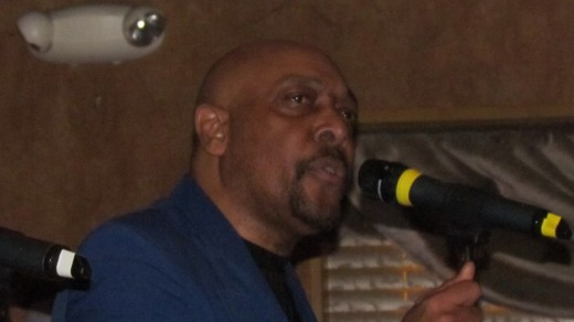 "Keith Elmore, sings ""I Lost It"" with the other members of The Blue Notes."