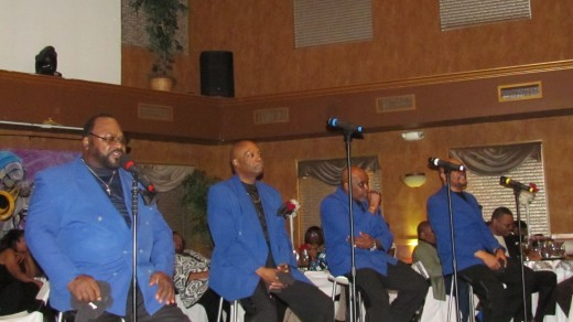 "The Blue Notes performed a powerful version of their hit, ""Be For Real."""