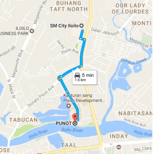 SM City to Punot Map Guide