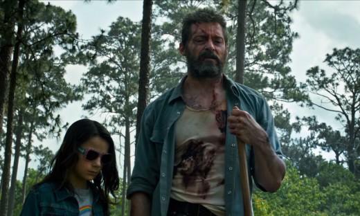 Hugh Jackman and Dafne Keen (Logan and Laura Kinney/X-23).