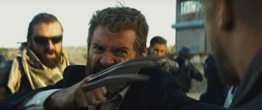 Logan brandishing his claws.