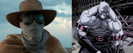 Left: Stephen Merchant as Caliban. Right: Caliban in the comics.