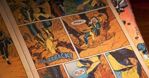 Vintage X-Men comics as featured in the film.