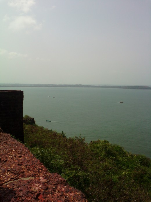 Areal view of Arabian Sea from Aguada fort