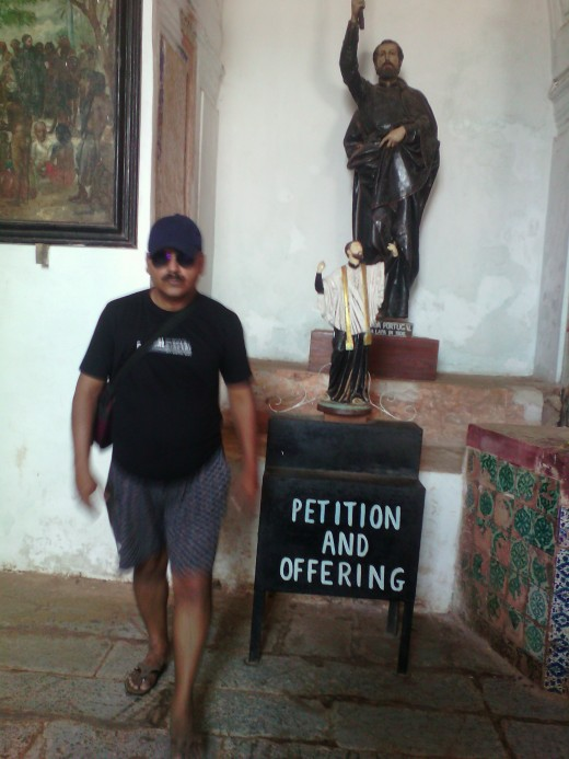 Me at St. Francis Xavier's church