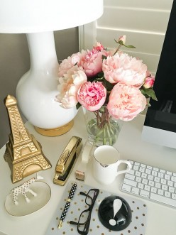 Feminine Desk Organization Ideas