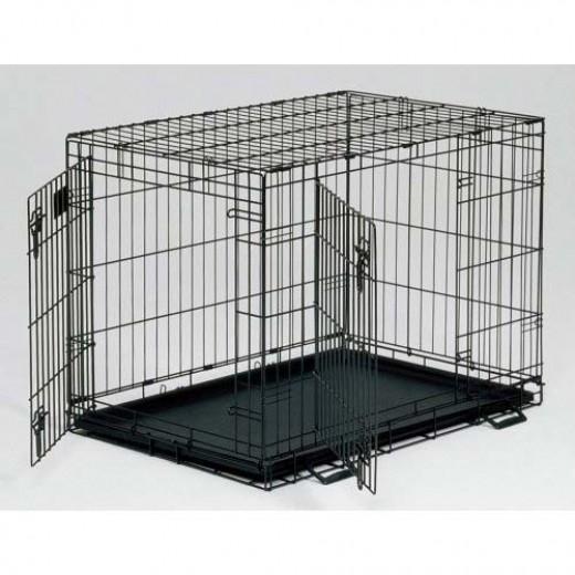 Double-door crate for more freedom