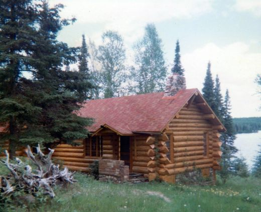 Partial view of Hibbard's Cabin and Moose Lake