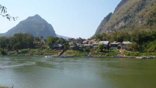 Nong Khiaw accessible by boat ride from Luang Prabang