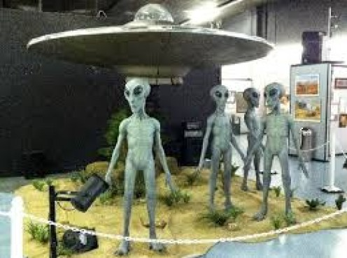 The center has many topics but the main reason for the center is the supposed alien crash in Roswell, NM back in 1947.