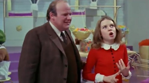 Veruca lists all the things she wants her father to do for her