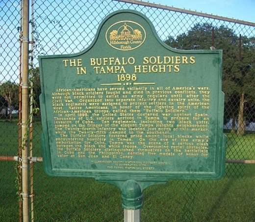 Buffalo Soldiers were as far east as Tampa, Florida.
