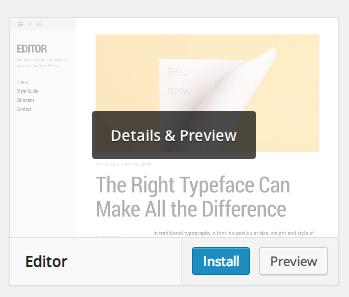 Installing a theme via the WordPress Theme Directory