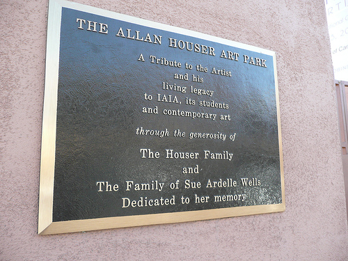 Plaque outside Allan Houser Art Park