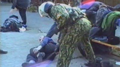 Evidence of violent treatment