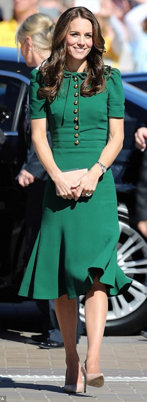 You name the color and Kate will look great while meeting the public.