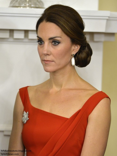 Kate Middleton, public idol, can take on the look of a serious woman.