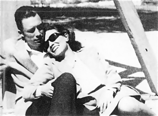 Albert Camus with second wife, Francine Faure