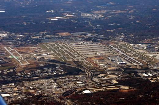Aerial View of Atlanta Airport