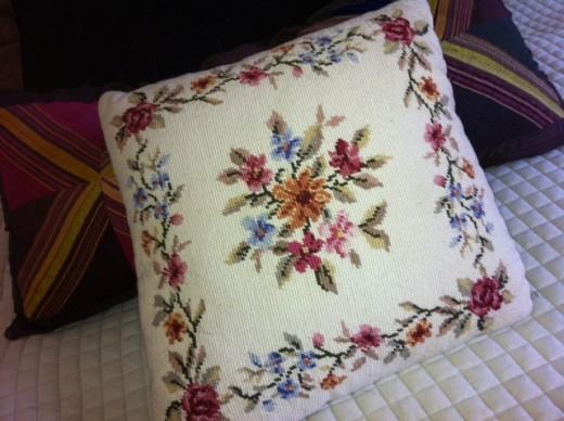 Needlepoint cushion from Eva