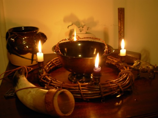 Offerings should be left on altars if inside of the home.