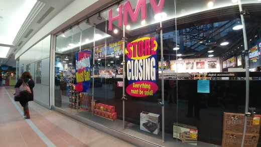 HMV stores in Canada closing down because everything on their shelves is inside cellphones.  This should be headline news not business news.
