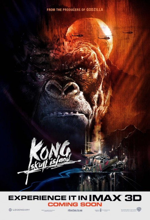 Kong: Skull Island IMAX 3D Theatrical poster