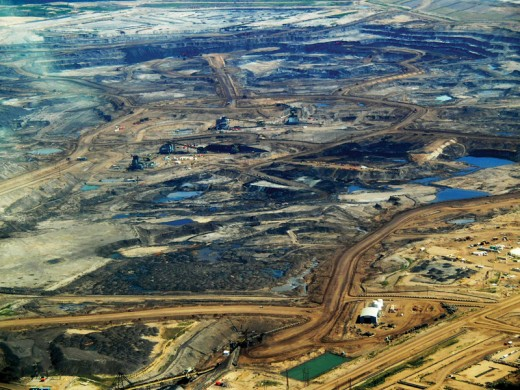 Expanse of oil sands mining