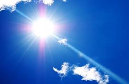 The glistening sun