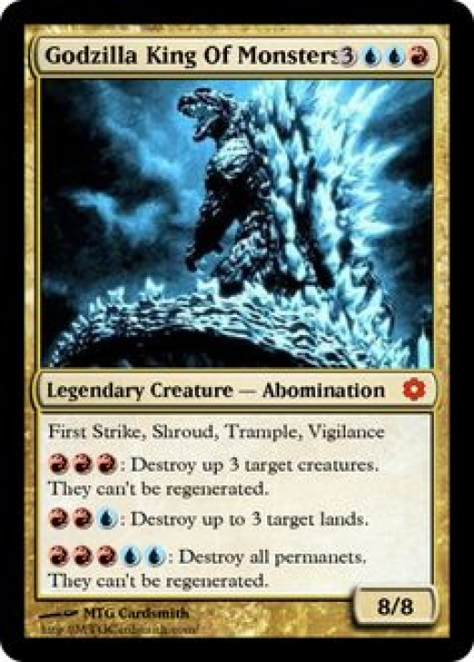 A fan-made Godzilla card