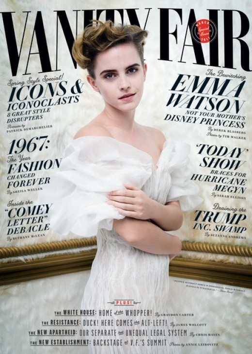 Emma Watson on the cover of Vanity Fair Magazine, March 2017