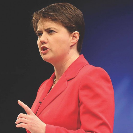 Scottish Conservative against Scottish independence Ruth Davidson