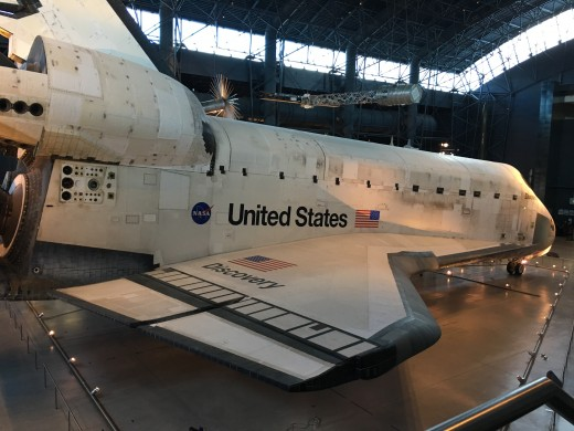 It is so hard to get a grasp of the magnitude of the space shuttle from pictures alone. To put it in to perspective the shuttle was flown to the museum on the top of a 747. Just think about that.