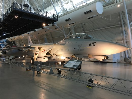 The F-14 Tomcat is a one-of-a-kind aircraft. The wings will sweep back to help it achieve supersonic speeds.