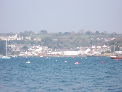 View of Flushing from the Falmouth to Flushing ferry on 20th July 2009.