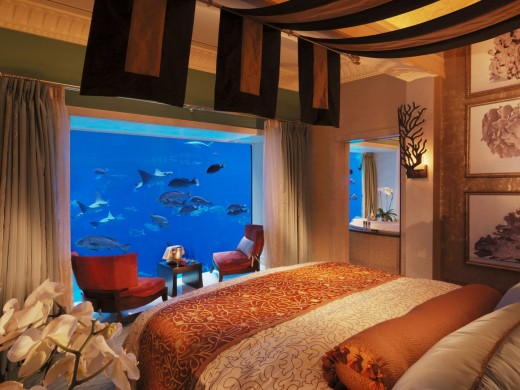 Atlantis The Palm, Dubai with over 65000 Marine Animals. The perfect romantic hideaway with breathtaking views of the ancient ruins of the mythical lost city of Atlantis.