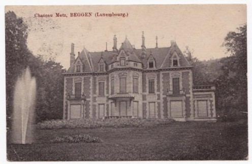 Postcard from 1913 of the Chateau de Beggen (former Chateau Metz), current Embassy of Russia in Luxembourg.