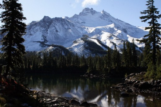 "The Cascade Mountains in Washington, a place I consider ""bathed in beauty."""