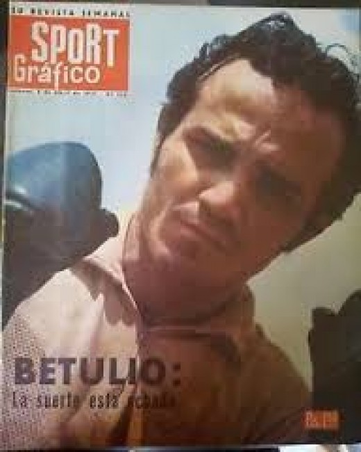 Betulio Gonzalez, seen gracing the cover of a local magazine, won the flyweight title three different times.