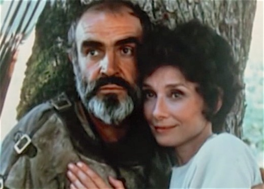 Sean Connery and Audrey Hepburn