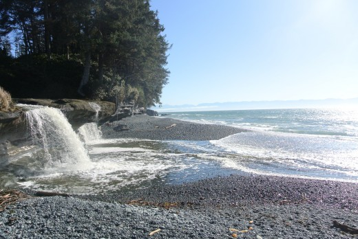 Sandcut Beach, just outside of Sooke.