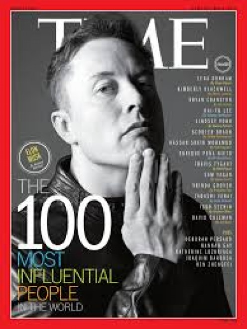 Elon Musk has been in tons of magazine articles, sometimes being interviewed.
